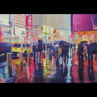 Rainy Night on Broadway - June Webster